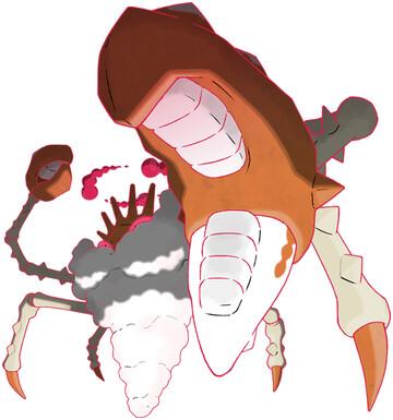 Kingler - Gigantamax Sugimori artwork