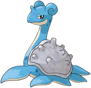Lapras artwork by Ken Sugimori