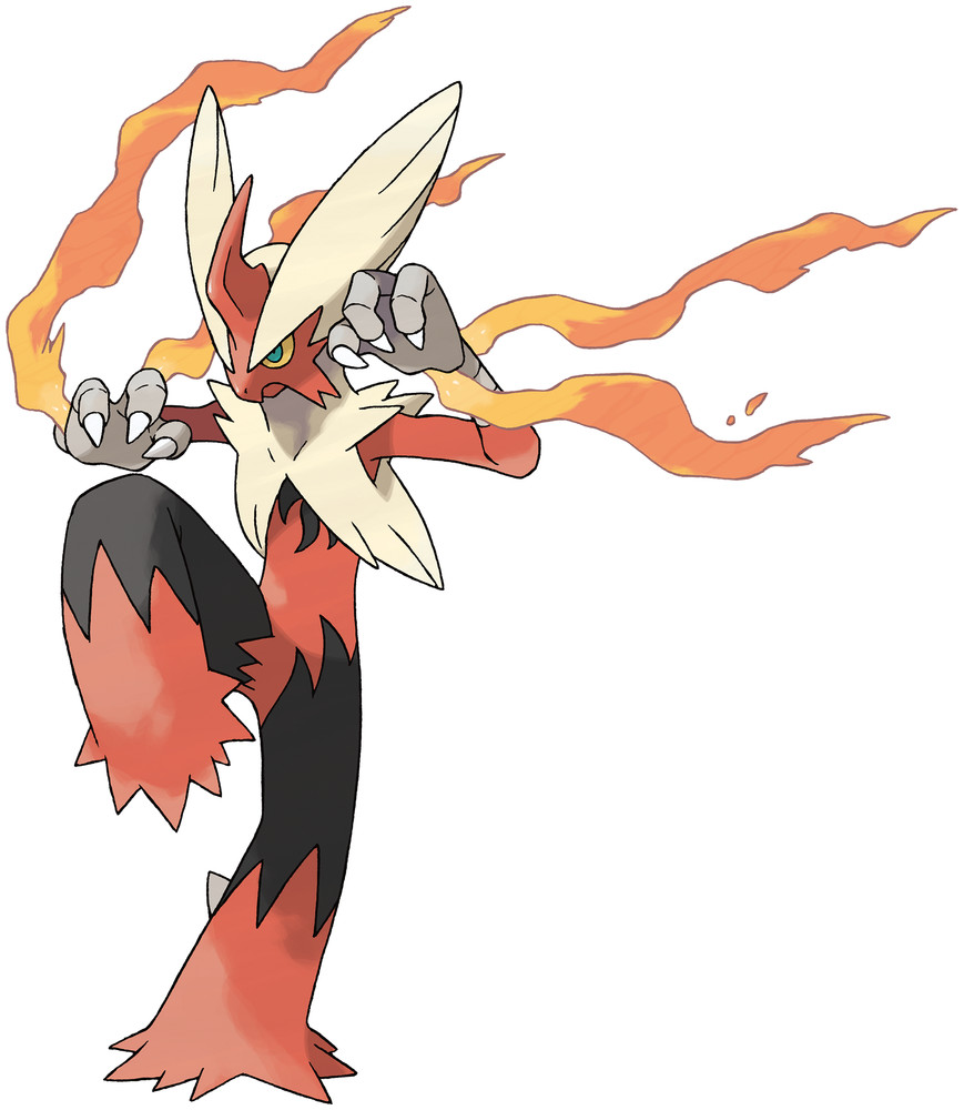 Mega Blaziken Artwork By Ken Sugimori
