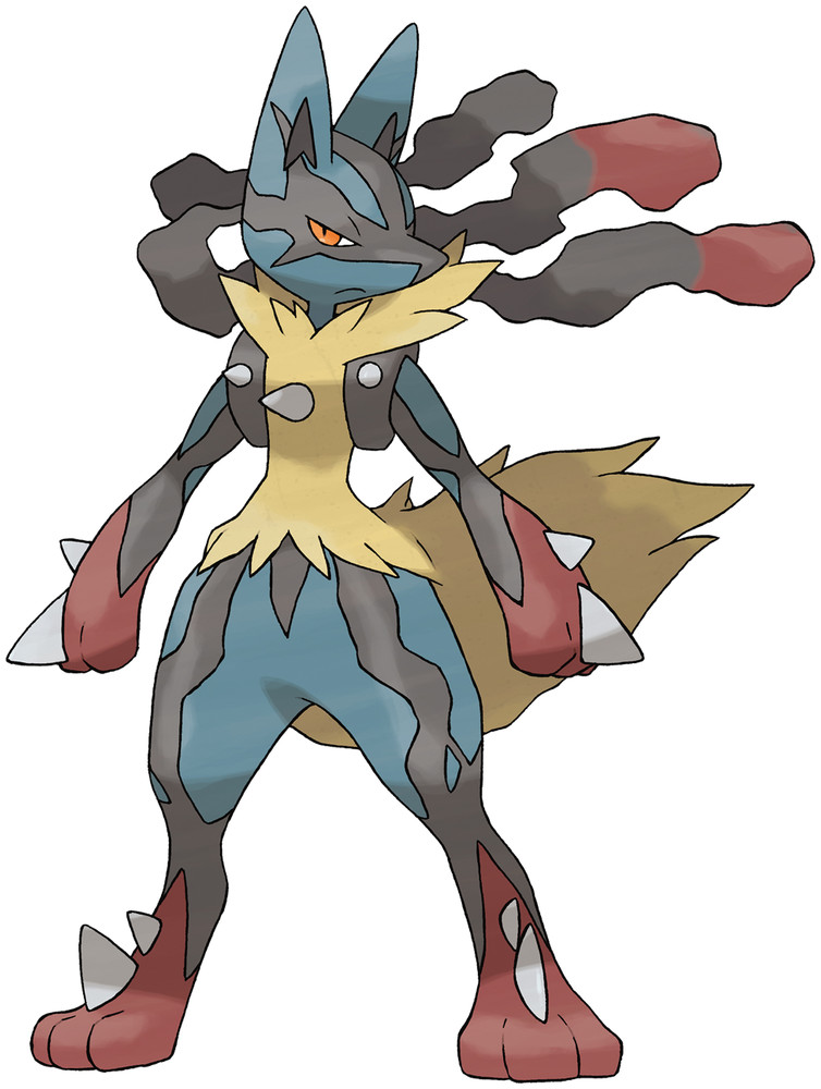 Mega Lucario Artwork By Ken Sugimori