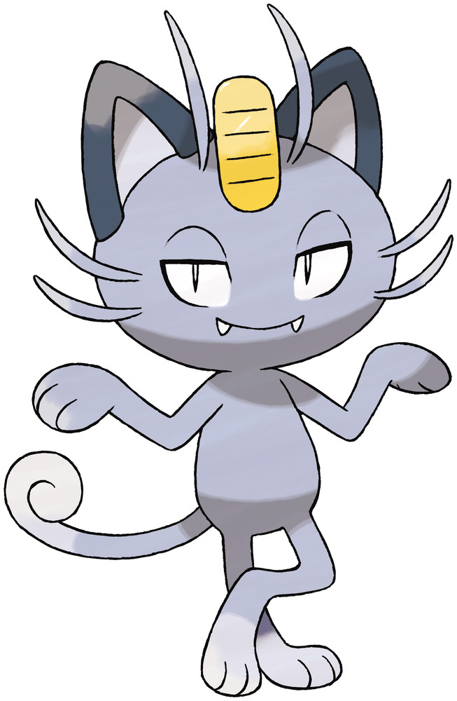 Alolan Meowth Artwork By Ken Sugimori