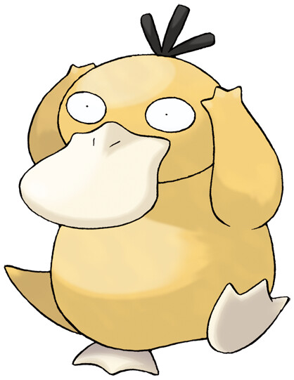 psyduck pokédex stats moves evolution locations pokémon database