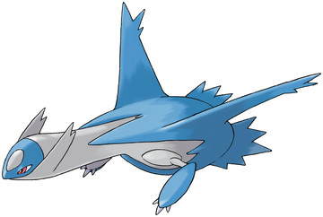 Latios artwork by Ken Sugimori