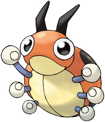 Ledyba artwork by Ken Sugimori