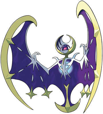 Lunala artwork by Ken Sugimori