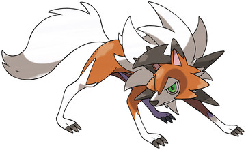 Lycanroc (Dusk Form) Sugimori artwork