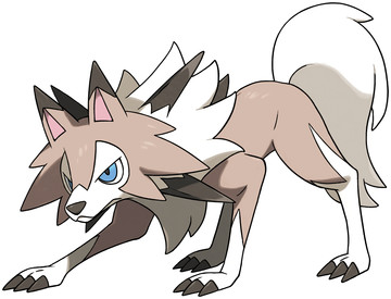 Lycanroc (Midday Form) artwork by Ken Sugimori