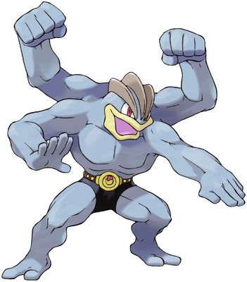 Machamp artwork by Ken Sugimori