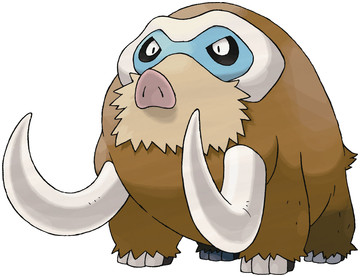 Mamoswine artwork by Ken Sugimori