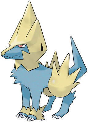 Manectric artwork by Ken Sugimori