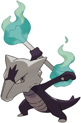 Alolan Marowak artwork by Ken Sugimori