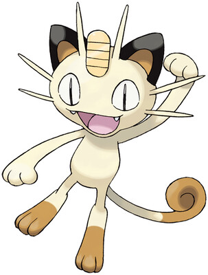 Meowth artwork by Ken Sugimori
