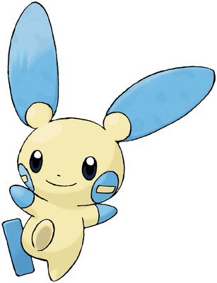 Minun artwork by Ken Sugimori