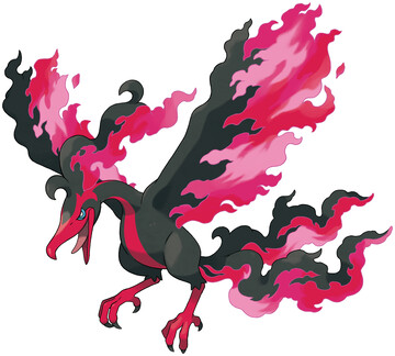 Galarian Moltres artwork by Ken Sugimori