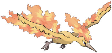 Moltres artwork by Ken Sugimori