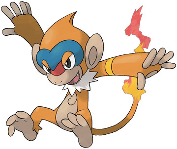 Monferno artwork by Ken Sugimori