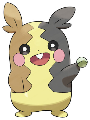Morpeko (Full Belly Mode) artwork by Ken Sugimori