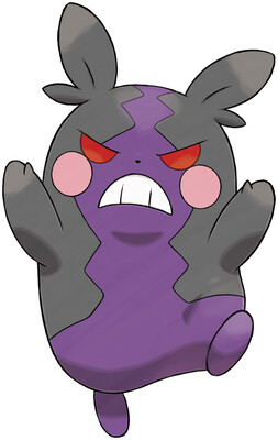 Morpeko (Hangry Mode) artwork by Ken Sugimori