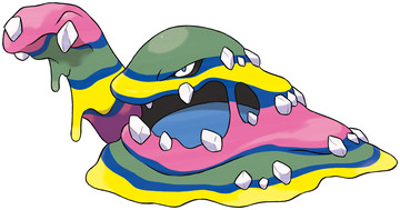 Alolan Muk artwork by Ken Sugimori