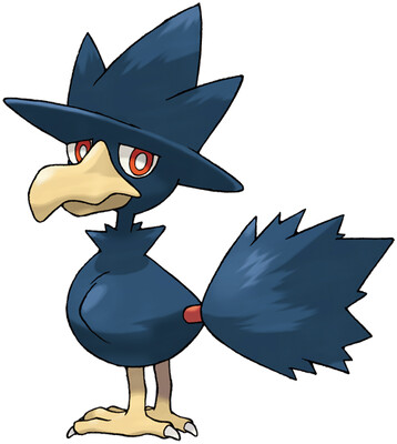 Murkrow artwork by Ken Sugimori