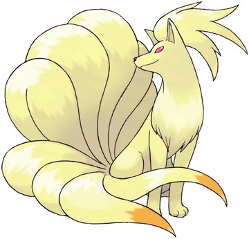 Ninetales artwork by Ken Sugimori