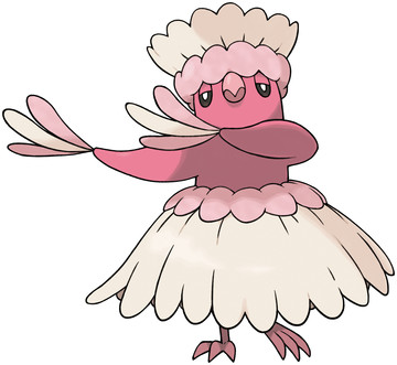 Oricorio (Pa'u Style) artwork by Ken Sugimori