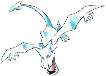 Aerodactyl Early Sugimori artwork - Red/Blue US