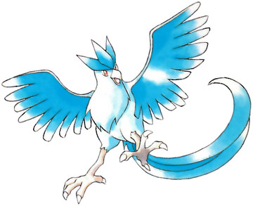 Articuno Early Sugimori artwork - Red/Blue US