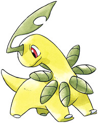 Bayleef Early Sugimori artwork