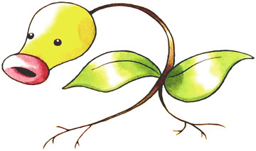 Bellsprout Early Sugimori artwork