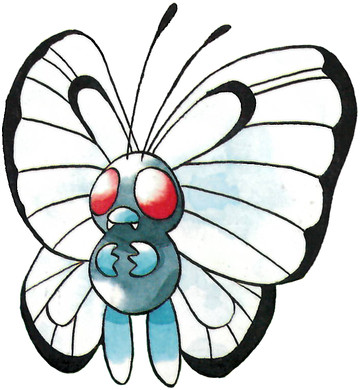 Butterfree Early Sugimori artwork - Japan