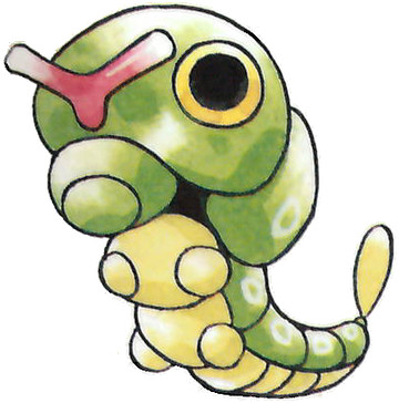 Caterpie Early Sugimori artwork - Japan