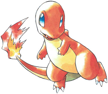 Charmander Early Sugimori artwork - Red/Blue US
