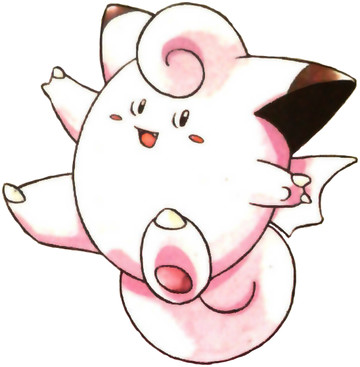Clefairy Early Sugimori artwork