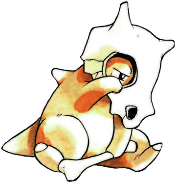 Cubone Early Sugimori artwork - Red/Blue US