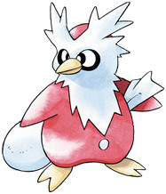 Delibird Early Sugimori artwork