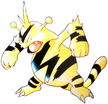 Electabuzz Early Sugimori artwork - Red/Blue US