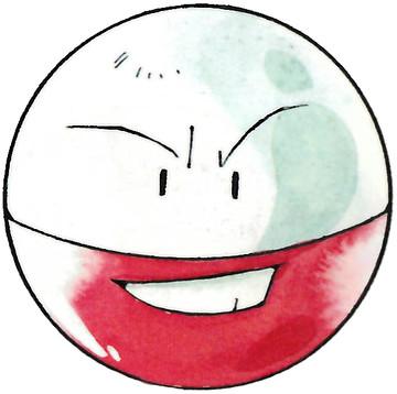 Electrode Early Sugimori artwork - Red/Green JP