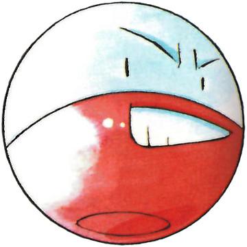 Electrode Early Sugimori artwork - Red/Blue US