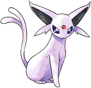 Espeon Early Sugimori artwork