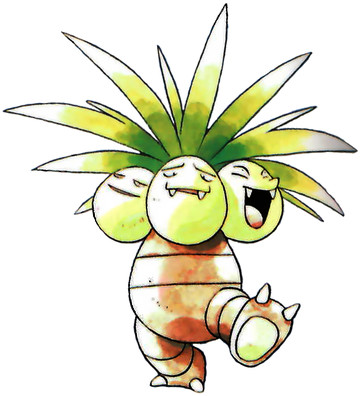 Exeggutor Early Sugimori artwork - Red/Blue US