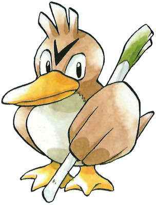 Farfetch'd Early Sugimori artwork - Japan