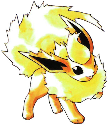 Flareon Early Sugimori artwork