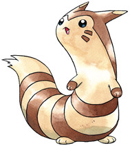 Furret Early Sugimori artwork