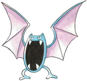 Golbat Early Sugimori artwork - Japan