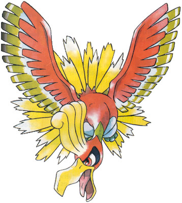 Ho-oh Early Sugimori artwork