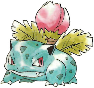 Ivysaur Early Sugimori artwork - Japan