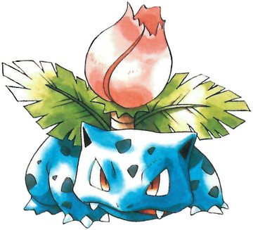 Ivysaur Early Sugimori artwork
