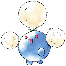 Jumpluff Early Sugimori artwork