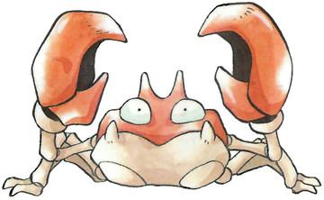 Krabby Early Sugimori artwork - Japan